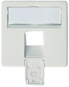 TELEGÄRTNER Zentralplatte komplett F00020A0123 albinpweiß 50x50 für AMJ45 8 UP//0