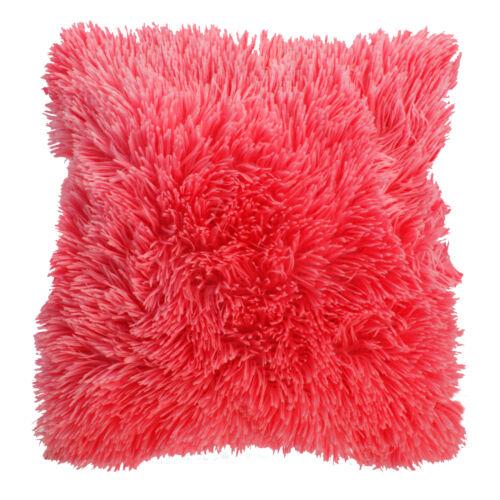 """rose//rouge 43 cm x 43 cm Doux en fourrure synthétique douce Housse de Coussin 17/"""" x 17/"""""""