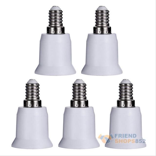 5pcs E14 to E27 Base Screw Light Lamp Bulb Holder Adapter Socket Converter #Fsy