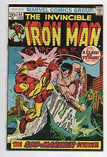 MARVEL COMICS  IRON MAN 54  1973 SUB-MARINER   1ST APP  MOONDRAGON