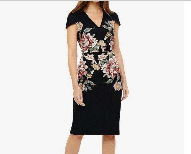 B 333Phase eight Nara Floral Embroidered Dress size UK10 RRP