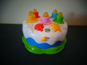 Image Is Loading LEAPFROG LEAP FROG COUNTING CANDLES HAPPY BIRTHDAY CAKE