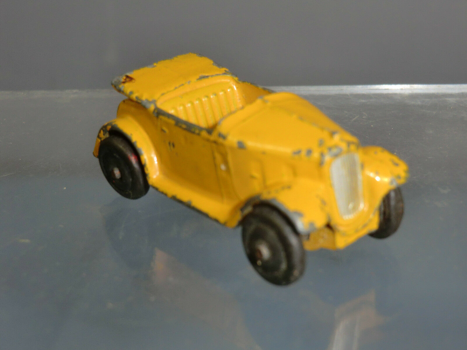 Vintage Dinky Toys Modelo No.35d Austin 7 Open tourer (giallo versión)  raros