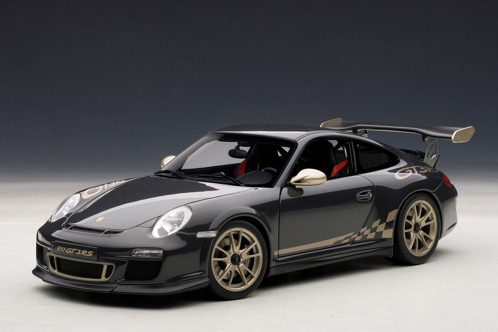 1/18 Autoart Autoart Autoart Porsche 911 (997) gt3 RS 3.8 (Grey Black/White Gold 2010 | De Nouveau Modèle  9029e6
