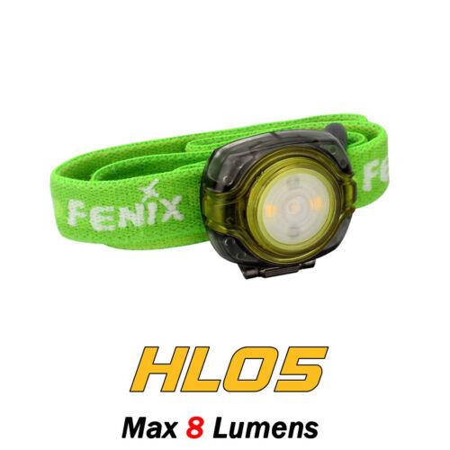 Fenix HL05 White /& Red LED Mini Portable Compact Running Headlamp Headlight