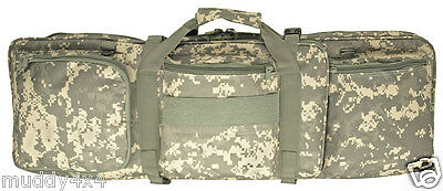 "32"" M4 Rifle Soft Case Bag Tactical Heavy Duty Mag & Pistol Storage ACU Digital"