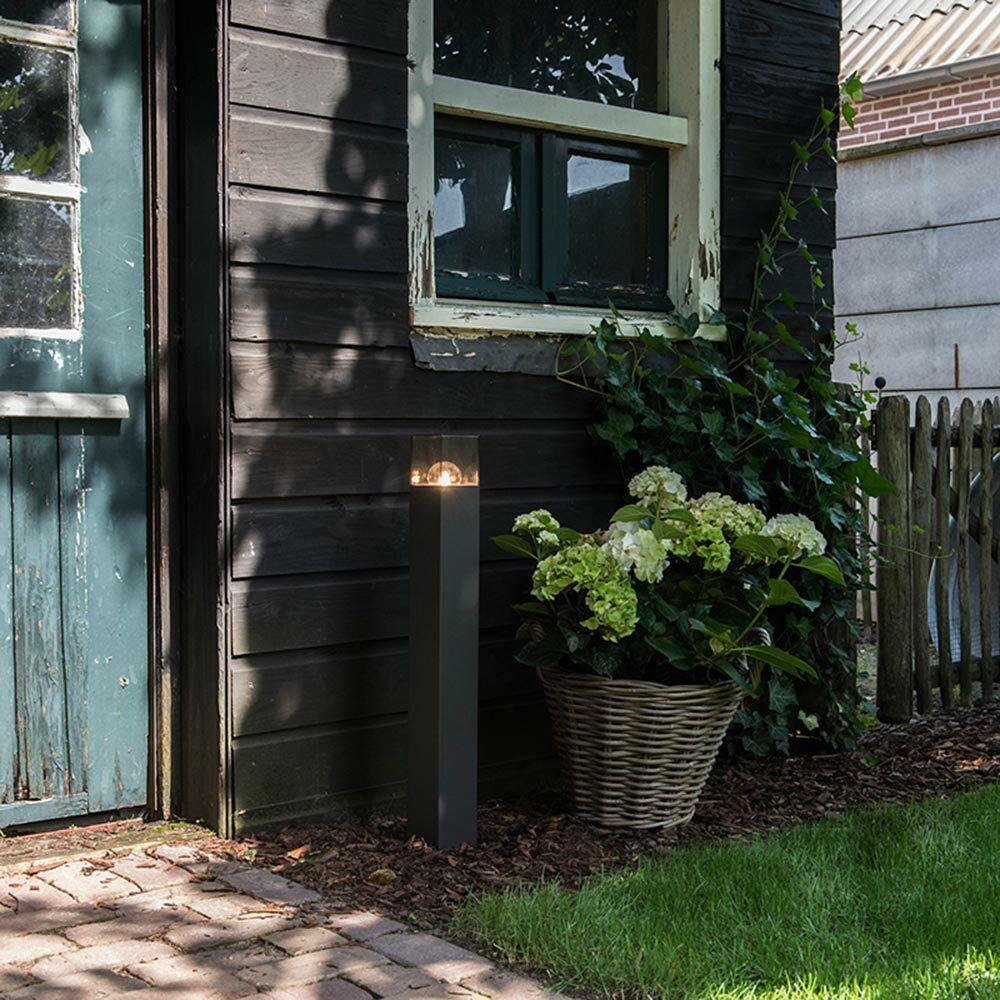 Qazqa exterior-Stand lámpara Denmark 70cm ip44 grafito