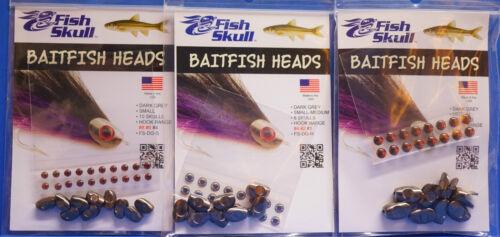 Baitfish Heads 3 Größen small medium DARK GRAY small-medium