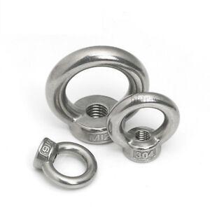 Filetage M16 acier carbone C15 DIN582 Zingu/é /écrou anneau levage 2pcs