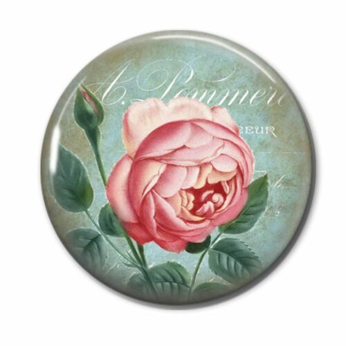 Roses Design 50mm Button Pin Badges Individual or a Set