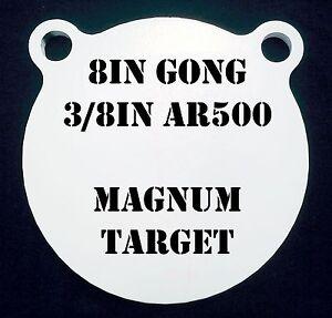8 in (environ 20.32 cm). AR500 Gong Shooting Target - 3-8 THK. Fusil Cible - 1pc. Steel Target Set-afficher le titre d`origine p68DoFKC-07163937-952443301