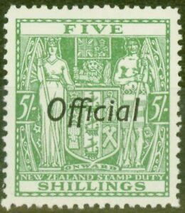Nouvelle-Zelande-1943-5s-Vert-SG0133-V-F-MNH