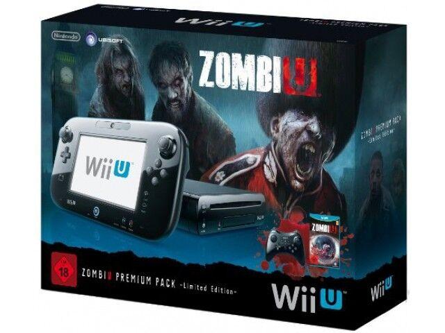 Nintendo Wii U Premium Pack 32GB [inkl. ZombiU & Wii U Pro Controller] schwarz A