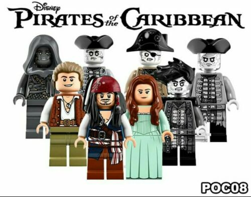 Pirates of the Caribbean Jack Sparrow Salazar Mini Figures utiliser avec LEGO