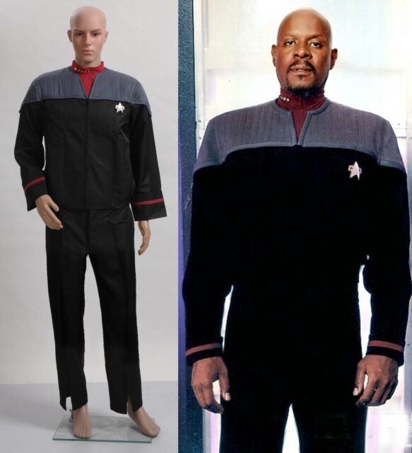 Star Trek Nemesis Voyager Captain Sisko Uniform Outfit Costume *Custom Made*