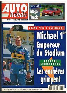 A21- Auto Hebdo N°994 Grand Prix D'allemagne Schumacher 1er,mega Track Marchandises De Proximité