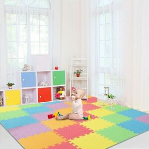 Baby-Play-Mat-with-Fence-Interlockin-Foam-Floor-Tiles-with-Crawling-Mat-US-STOCK