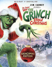 Dr Seuss How the Grinch Stole Christmas (Blu-ray) NO DIGITAL ART COVER DAMAGED