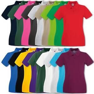 Fruit-of-the-Loom-Damen-Poloshirt-Lady-Fit-Premium-Polo-T-Shirt-Gr-XS-XXL