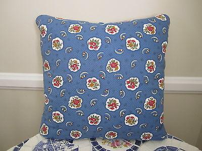 Gorgeous Pierre Deux Pillow Avignonet Blue French Country Fleur Toile