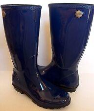 b7f6a22c9bb UGG Shaye Tall Rain BOOTS Blue Jay Sheepskin Insole US 10/ 41 1002350