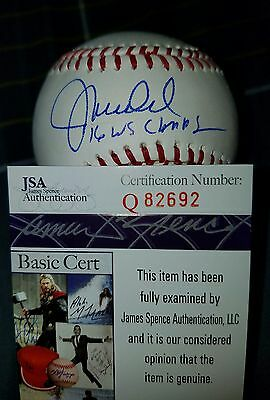 Joe Madden Signed Omlb Inscription 2016 Ws Champs In Person Jsa cubs Manager