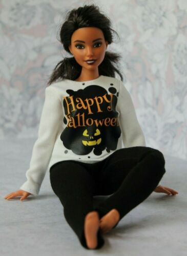 Blouse and Leggings for Dolls. №094 Clothes for Curvy Barbie Doll