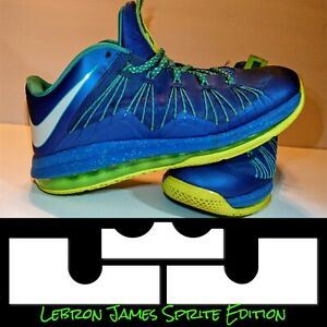 newest 6abf9 c4a8f Image is loading Nike-LeBron-James-Sprite-edition-lime-green-and-