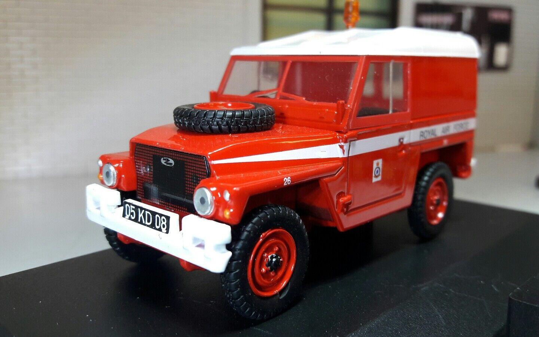 1 43 Scala modelllllerlerlo Land Rover Serie 2a 3 Leggera Raf röd Frecce Oxford