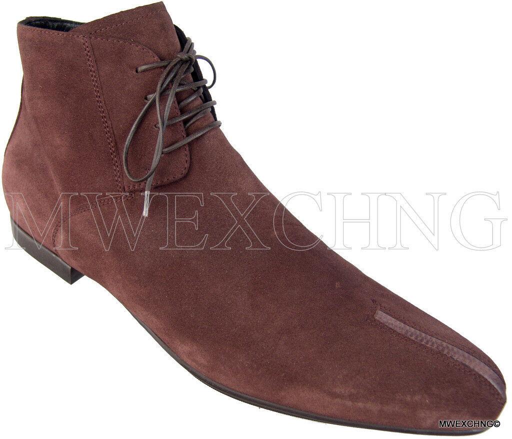 760.00 CESARE PACIOTTI 6 US Italien Daim mode Fermeture Éclair Cheville Bottes Chaussures
