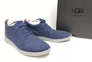 b811ded6a72 Details about UGG Australia Larken Stripe Perf 1014660 Marino Blue Athletic  Leather Shoes