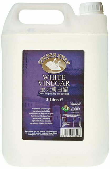 Golden Swan White Vinegar 5 Litre (Pack of 4)  **Free Delivery **