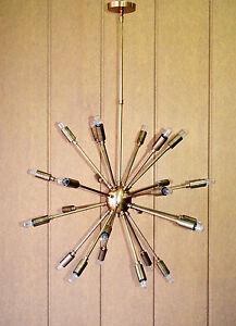 fc157aa495d7b 24 Lights Mid Century Modern Antique Brass Sputnik Chandelier light ...