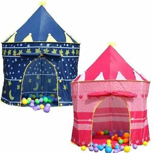 Image is loading Children-Girl-Boy-Kids-Pop-Up-Castle-Play-  sc 1 st  eBay & Children Girl Boy Kids Pop-Up Castle Play Tent Play House Outdoor ...