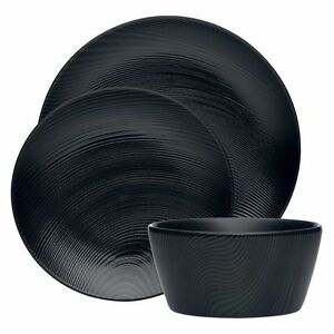 NEW-Noritake-BoB-amp-WoW-Dune-12-Piece-Dinner-Set-in-Black-White