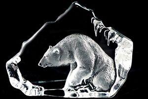 Petit Tapis Jonasson gravé cristal ours polaire Sculpture Figurine Statue-afficher le titre d`origine tW3IzQpm-09164517-137544288
