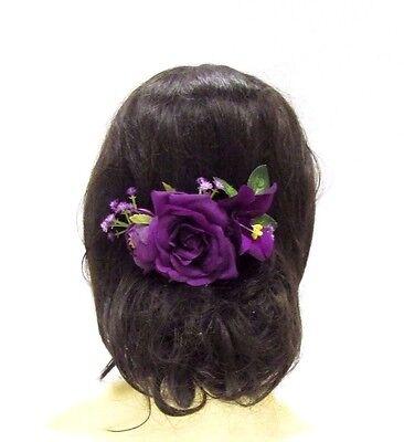 Lavendel Rose Sonnenblume Blume Haarkamm Brautjungfer Kopfbedeckung Gelb Lila