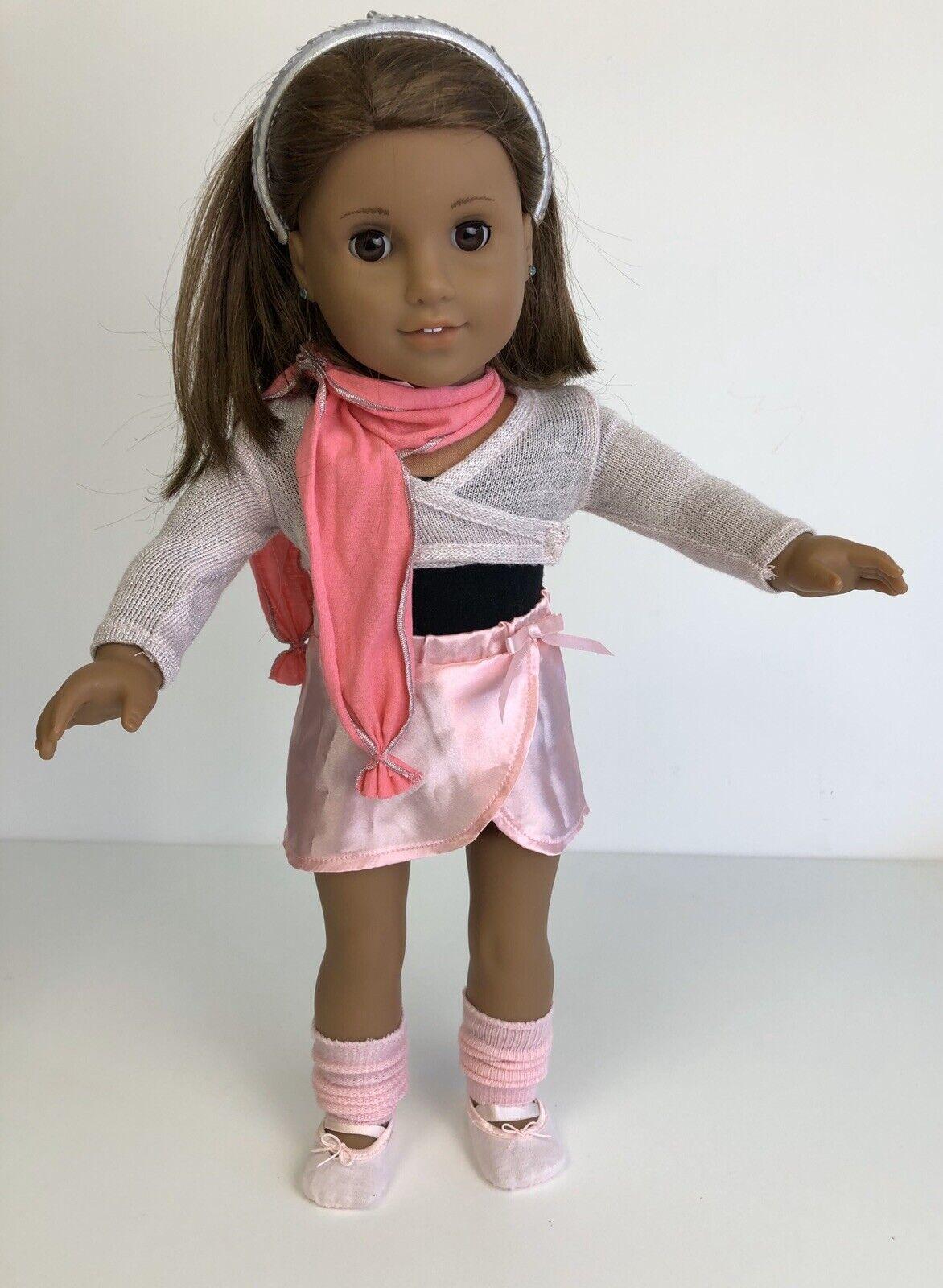 American Girl Doll VGC dark Hair Pierced Ears. In A Delightful Ballet Outfit.