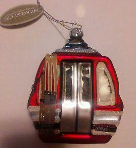 Midwest-CBK-Glassworks-Gondola-Ski-lift-Christmas-Ornament-New-4-5-x-3-5-inches