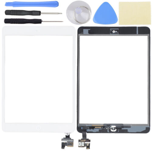 OEM White Touch Glass Digitizer Screen Home Button W// IC Connector iPad Mini 1 2