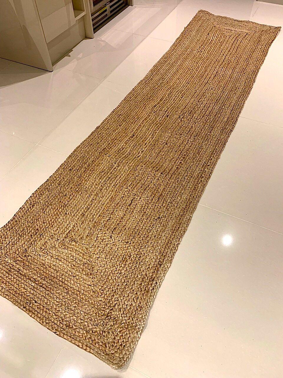 Rugs Carpets Rugs Natural 100 Jute Reversible Eco