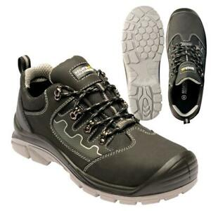 Regatta-Mens-Region-Safety-Trainer-Steel-Toe-Cap-Midsole-Work-Shoe-Black-Grey