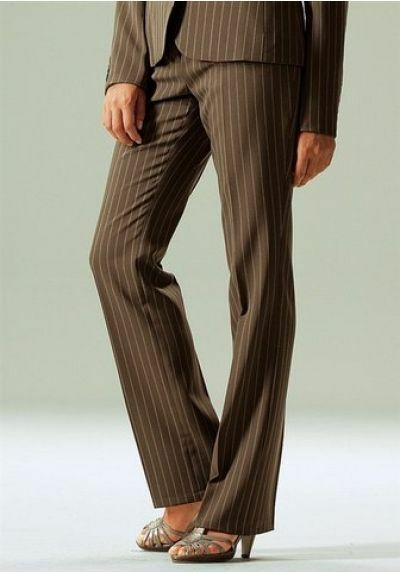 2tlg. Laura Scott Pantalons Costume Set Neuf T. 34-40 Femme Marron/nougat Blazer Pantalon