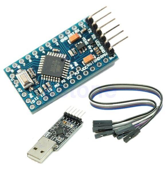 For Arduino Compatible Pro Mini Atmega328 5V 16M + CP2102 USB 2.0 to UART TTL