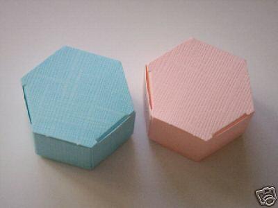 12 Blue octogon Wedding Shower Favor candy Boxes