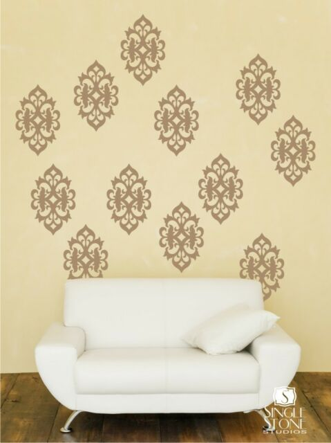 Ornate Pattern Wall Decals (set of 4) - Vinyl Sticker Art