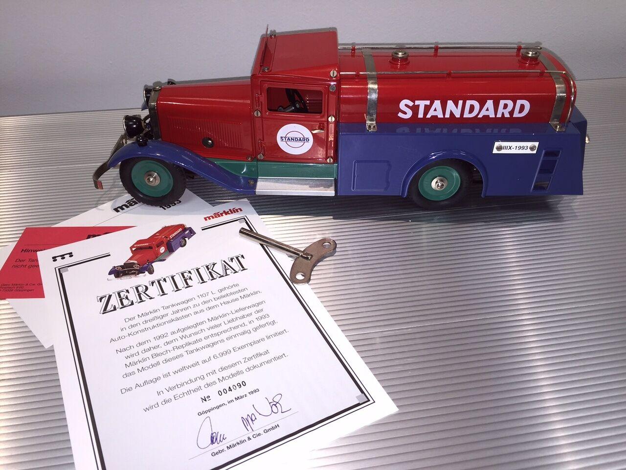 Vintage Marklin Scatola di Latta   a Carica   Standard Olio Camion Cisterna