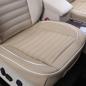 beige pu leather car seats protector mat cover auto seat pad breathable cushion ebay. Black Bedroom Furniture Sets. Home Design Ideas