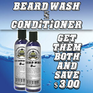 Details about Unscented Beard Wash & Beard Conditioner