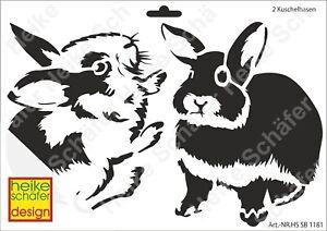 Schablone-Stencil-A4-014-1181-2-Kuschelhasen-Neu-Heike-Schaefer-Design